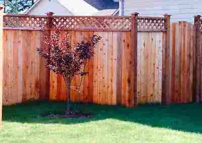 cedar wood fencing King and Pierce County